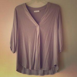 Soft gray lavender 3/4 sleeve shirt